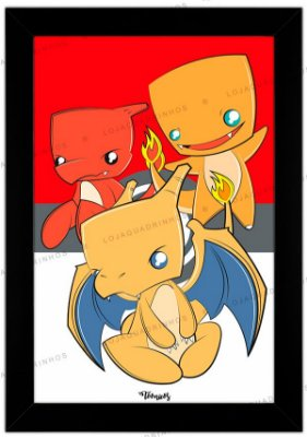 Quadro Pokémon Charmander by Toonicos