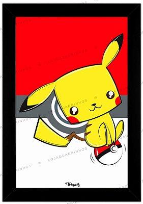 Quadro Pokémon Pikachu by Toonicos
