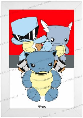 Quadro Pokémon Squirtle by Toonicos