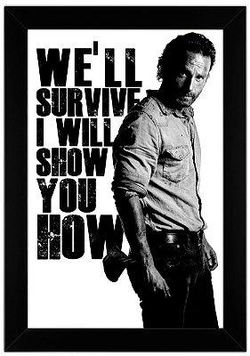Quadro de Frase - The Walking Dead - Rick