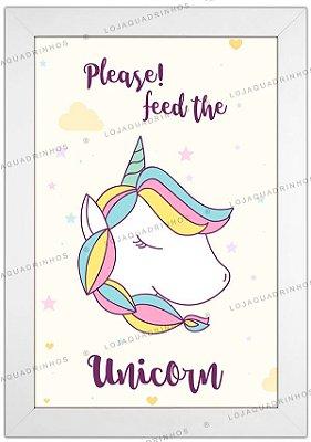 Quadro de Unicórnio - Please! Feed the Unicorn