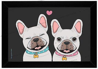 Quadro de Cachorro - Casal de Bulldogs