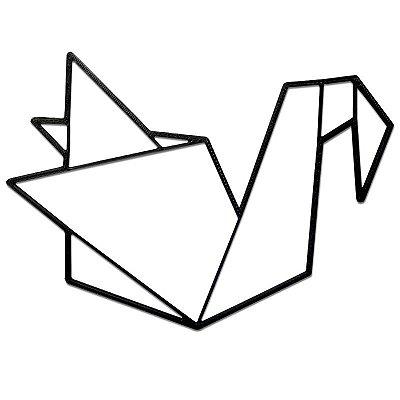 Pássaro Tsuru Decorativo Minimalista 3D