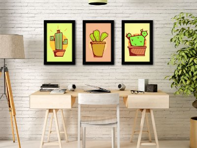 Conjunto de Quadros de Cactus