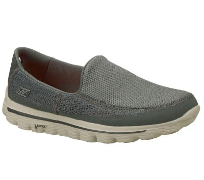 MENS SKECHERS GO WALK 2  - CHARCOAL