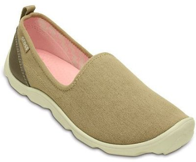 CALCADO DUET BUSY DAY CANVAS SKIMMER 201173 - KHAKI/STUCCO