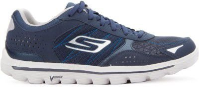 MENS SKECHERS GOWALK 2  FLASH- 53960 - NAVY/GREY