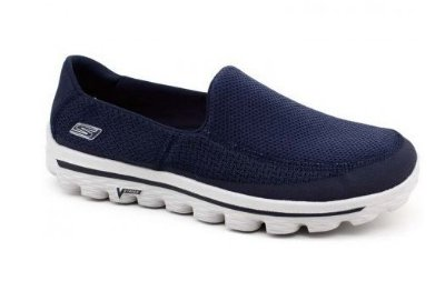 MENS SKECHERS GO WALK 2  - NAVY/GRAY