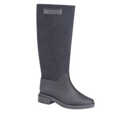MELISSA LONG BOOT FLOCKED DM31922 - CINZA FLOCADO
