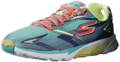 SKECHERS GO RUN 4 13995 - AQUA/PURPLE
