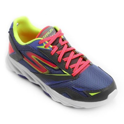 SKECHERS GO RUN VORTEX 14080 - CHARCOAL/PURPLE
