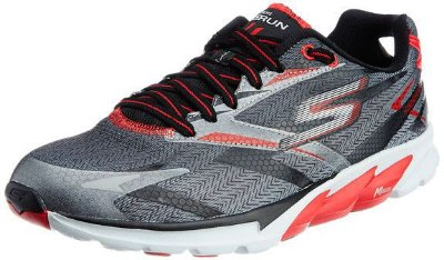 MENS SKECHERS GO RUN 4 53995 - BLACK/RED