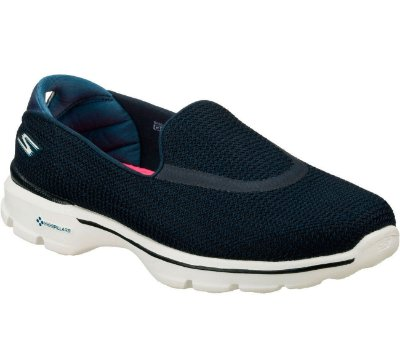 WOMENS SKECHERS GO WALK 3 13980 - NAVY/WHITE