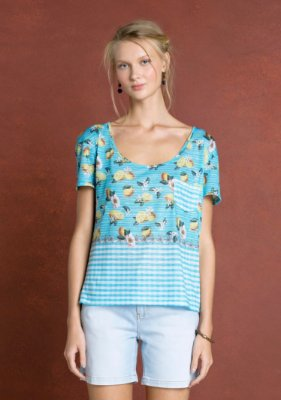 T-SHIRT SILK FRESH 516761 - AZUL