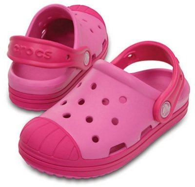 Sandália Crocs Bump It Clog Party Pink/Candy Pink - Infantil