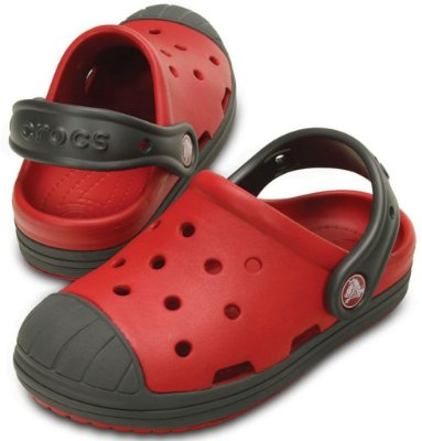 Sandália Crocs Bump It Clog Pepper/Graphite – Infantil