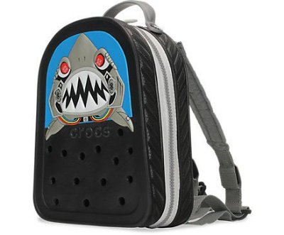 MOCHILA CROCSLIGHT BACKPACK ROBO SHARK - 35184 - BLACK/SILVER