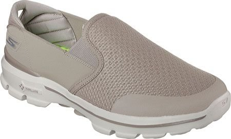 MENS SKECHERS GO WALK 3 CHARGE 53988 - STONE