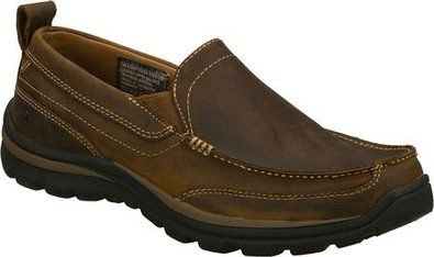 MENS SKECHERS SUPERIOR GAINS 63697 - DARK BROWN