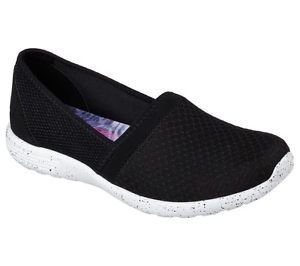 WOMENS SKECHERS STARDUST SURE BET 22804 - BLACK/WHITE