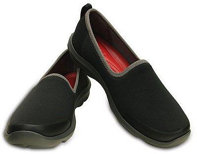 Sapatilha Crocs Busy Day Stretch Skimmer Black/Graphite - Feminino