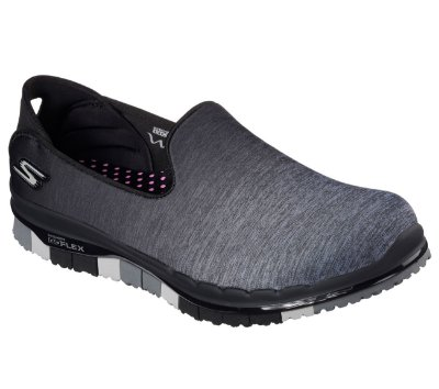 WOMENS SKECHERS GO FLEX - MUSE 14018 - BLACK/GRAY