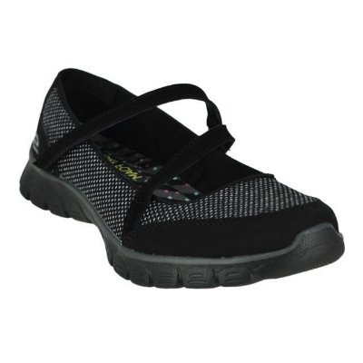 WOMENS SKECHERS EZ FLEX 3.0 STOPOVER 22849 - BLACK