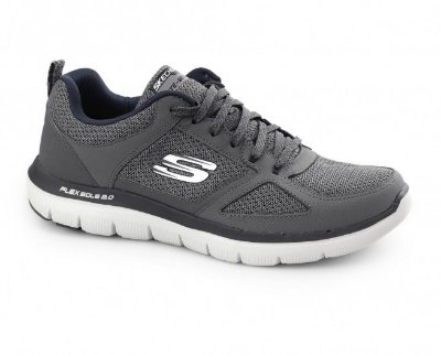MENS SKECHERS FLEX ADVANTAGE 2.0 52180 - CHARCOAL/BLUE
