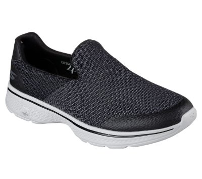 MENS SKECHERS GO WALK 4 - EXPERT 54155 - BLACK/GRAY