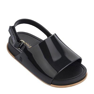 Mini Melissa Beach Slide Sandal - Preto / Bege