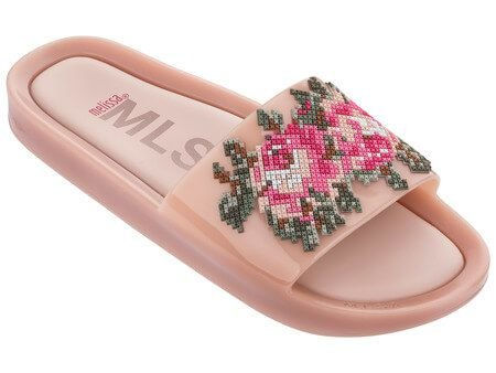 MELISSA BEACH SLIDE FLOWER 32331 - ROSA/VERDE