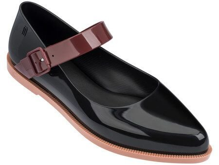 MELISSA MARY JANE 32333MG - PRETO/BORDO/MARROM