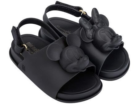 MINI MELISSA BEACH SLIDE + DISNEY 32284 - PRETO OPACO