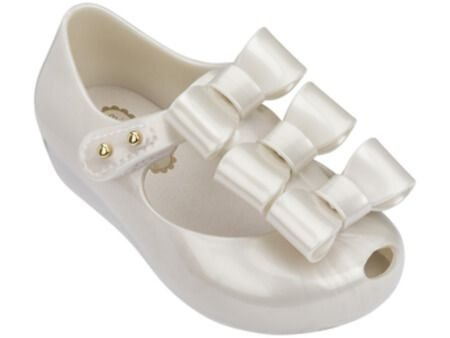 MINI MELISSA ULTRAGIRL TRIPLE BOW 32335 - BRANCO CINTILA METAL