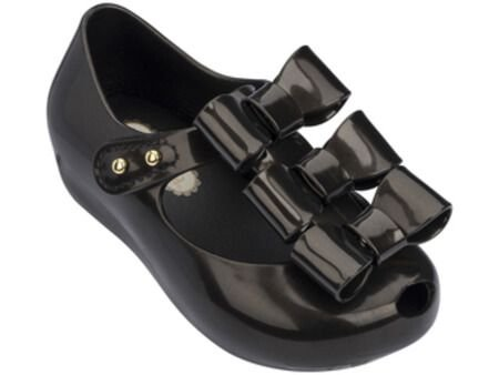 MINI MELISSA ULTRAGIRL TRIPLE BOW 32335 - PRETO/DOURADO