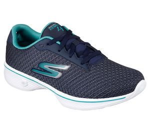 SKECHERS WOMEN GO WALK 4 - GLORIFY  14175 - NAVY/TEAL