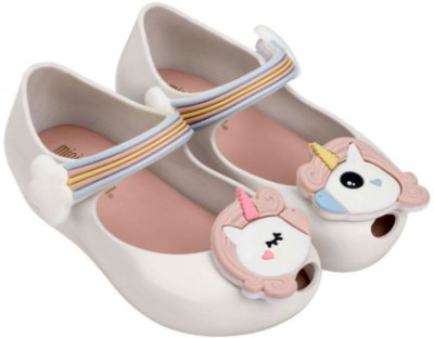 Mini Melissa Ultragirl Unicorn - Branco/Rosa