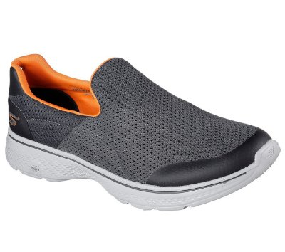 GO WALK 4 - 54152 - CHARCOAL/ORANGE