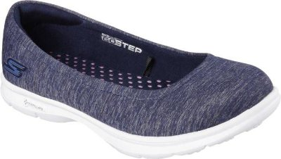 WOMENS SKECHERS GO STEP - CHALLENGE 14205 - NAVY/ WHITE