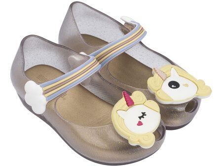 Mini Melissa Ultragirl Unicorn - Vidro/Ouro