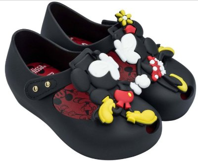 Mini Melissa Ultragirl + Disney Twins III - Preto Opaco