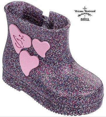 Vivienne Westwood Anglomania + Mini Melissa Boot - Vidro com Glitter Multicor