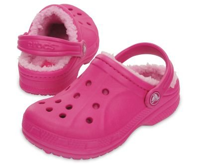 Sandália Crocs Winter Clog - infantil - Candy Pink/Carnation