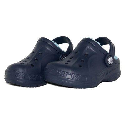 Sandália Crocs Winter Clog - Navy/Eletric Blue - infantil