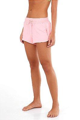 Shorts Alto Giro Beach Microway Rosa Neon