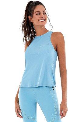 Regata Alto Giro Skin Fit Regulagem Azul Waters