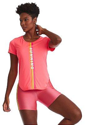 T-Shirt Cajubrasil Mystic Rosa Neon