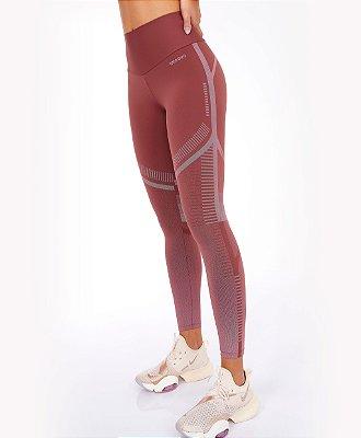 Legging Alto Giro Bodytex Degrade Marrom Mahogany