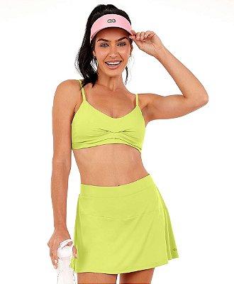 Top Alto Giro Bodytex Costas Decotada Verde Acid Lime