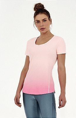 T-Shirt Alto Giro Skin Fit Degradê